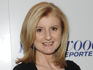 Arianna Huffington arrives at The Hollywood Reporter 35 Most Powerful People in Media event