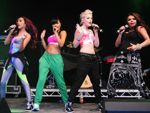 Little Mix perform at the Blackpool Illuminations Switch-On concert.