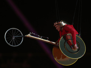 Dame Tanni Grey-Thompson during the Paralympics Games Opening Ceremony