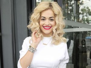 Rita Ora at BBC studios in Salford Quays.