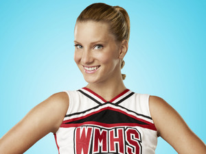 Heather Morris as Brittany Pierce in Season 4 of Glee.