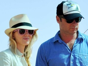 Naomi Watts and Liev Schreiber arriving in Venice ahead of the the 69th Venice Film Festival Venice, Italy