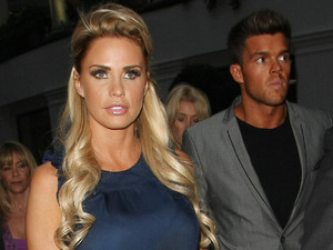 Katie Price and Leandro Penna at the gossip sharing website launch of 'YouGossip' at the at the Grovesnor Hotel London