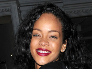 Rihanna plays