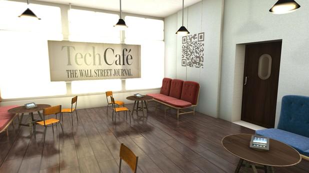 Wall Street Journal London cafe