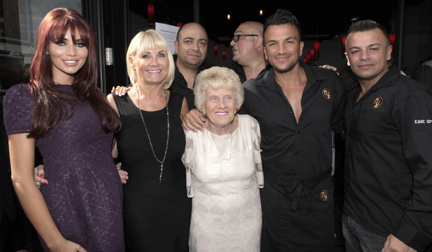 Amy Childs, Carol Wright, Nanny Pat, Peter Andre Peter Andre opens a Coffee Shop called 'NY' New York Coffee Club  in Brighton Sussex, England - 30.08.12 Mandatory Credit: Ricky Swift/WENN.com