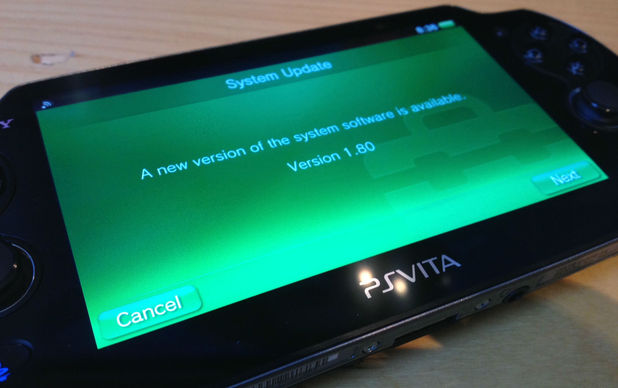 PlayStation Vita update 1.80