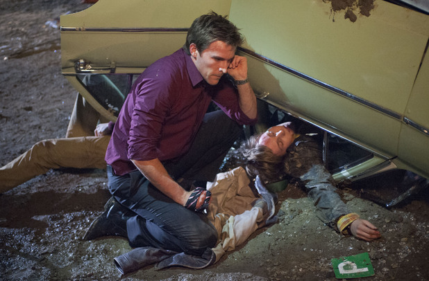 Rhys arrives on the scene and tries to help Andrew.