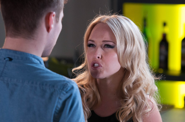 Theresa is furious with Joel when she sees him with another woman.