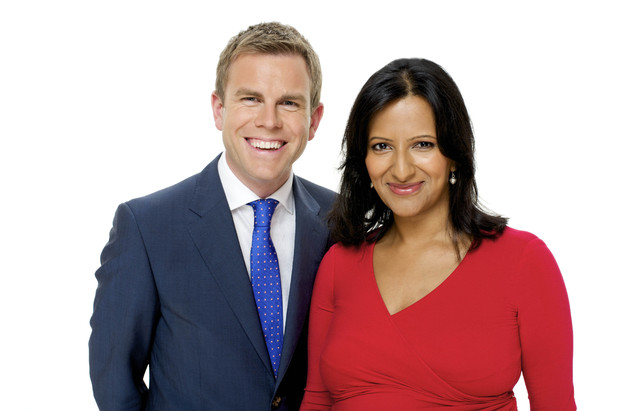 Daybreak news co-hosts Matt Barbet and Ranvir Singh