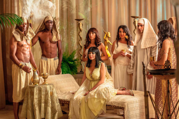 Biopic Liz and Dick - featuring Lindsay Lohan as Liz Taylor during the filming of Cleopatra