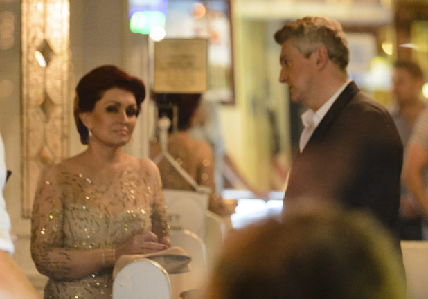 Sharon Osbourne and Louis Walsh at The Little White Wedding Chapel,