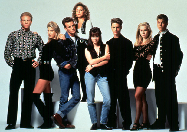 The cast who made the 90210 zip code famous included Luke Perry, Jennie Garth, Tori Spelling and Shannen Doherty.