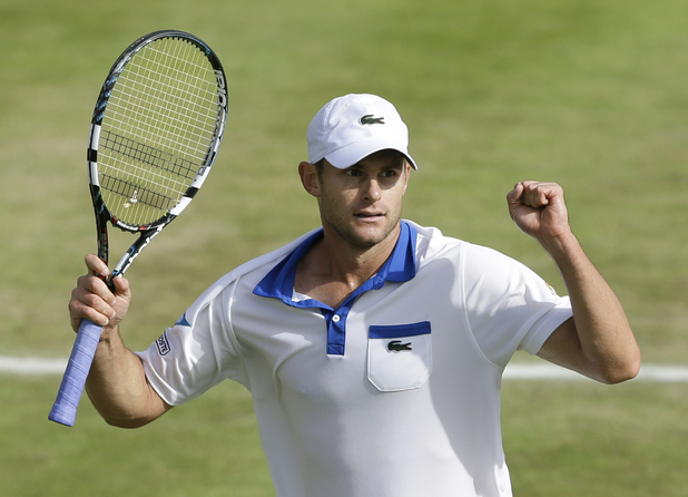 Andy Roddick at Wimbledon 2012. Roddick announced his retirement from tennis on August 30, his 30th birthday