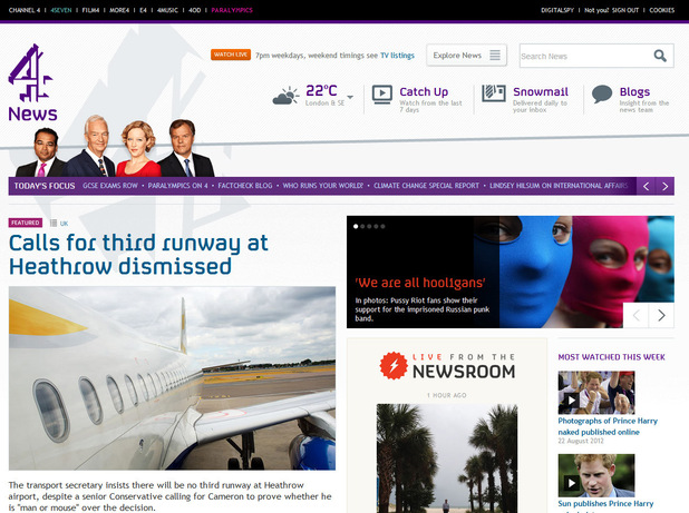 Channel 4 News launches 'responsive' new website