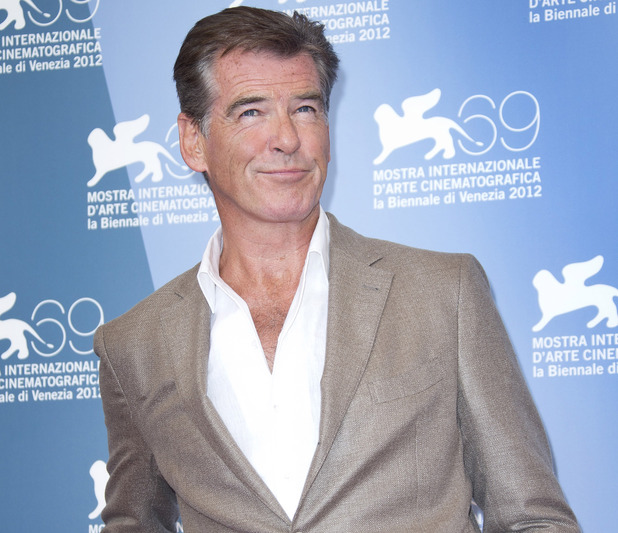 Pierce Brosnan at the photo call for 'Love Is All You Need' at the Venice Film Festival.