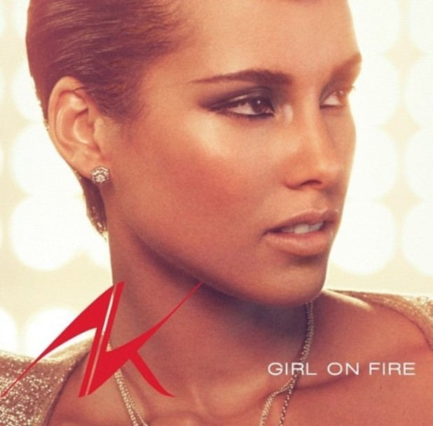 Alicia Keys 'Girl On Fire' single cover