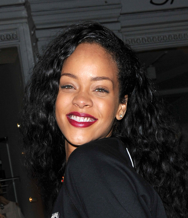 Rihanna plays leaves the Rose Club in the early hours London, England - 31.08.12 Credit: (Mandatory): WENN.com