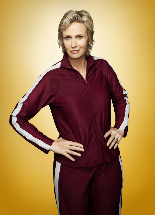 Jane Lynch as Sue Sylvester in Season 4 of Glee.