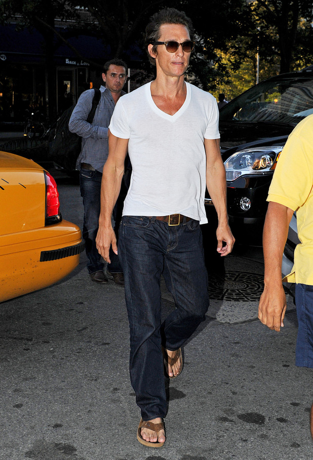 Matthew McConaughey shows off dramatic weight loss for new movie role in New York