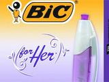Bic pink pens for women