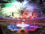 Fireworks during the Paralympics Games Opening Ceremony