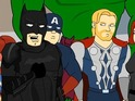 Batman and the Avengers don't see eye-to-eye in CollegeHumor's sketch.