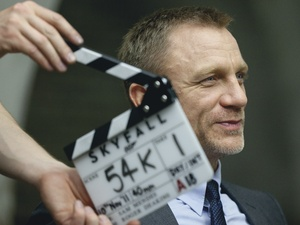 James Bond Skyfall clapperboard