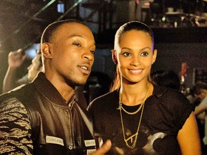 Ashley Walters, Alesha Dixon on video set