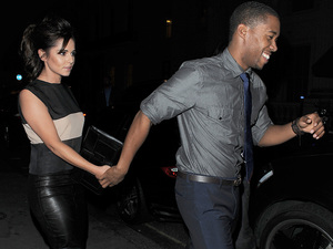 Cheryl Cole enjoys a late dinner with new beau Tre Holloway at Sumosan restaurant in Mayfair. The couple spent around 3 hours inside the restaurant, before leaving together in a chauffeur driven car. Cheryl appeared to be in great spirits, and there was no sign of the sling she was pictured wearing a few days before, as a result of a car accident she had while in Los Angeles. London, England - 04.09.12 Mandatory Credit: Will Alexander/WENN.com