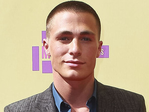 Colton Haynes attends the MTV Video Music Awards 2012