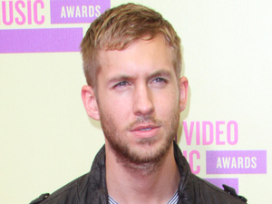 Calvin Harris attends the MTV Video Music Awards 2012