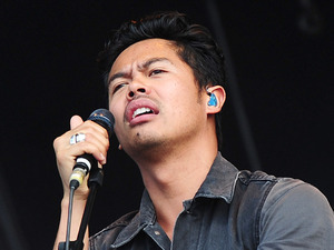 The Temper Trap frontman Dougy Mandagi at BT London Live, August 10, 2012