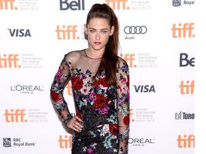 Kristen Stewart in sheer floral dress