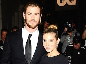 Chris Hemsworth and Elsa Pataky arriving at the 2012 GQ Men Of The Year Awards at the Royal Opera House, London