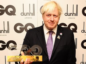 Politician Of The Year London Mayor Boris Johnson at the GQ Men Of The Year Awards at the Royal Opera House, London