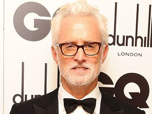 John Slattery with his International Man of the Year Award at the Royal Opera House, London