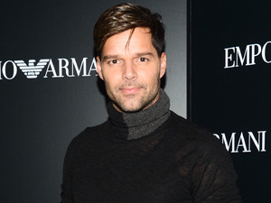 Ricky Martin at the Emporio Armani Flagship Store Opening.