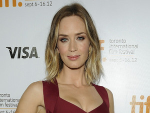 Emily Blunt 'Looper' premiere arrival during the 2012 Toronto International Film Festival (TIFF) at Roy Thomson Hall. Toronto, Canada