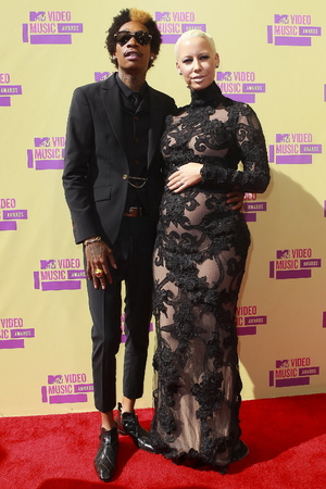 Wiz Khalifa and Amber Rose attend the MTV Video Music Awards 2012