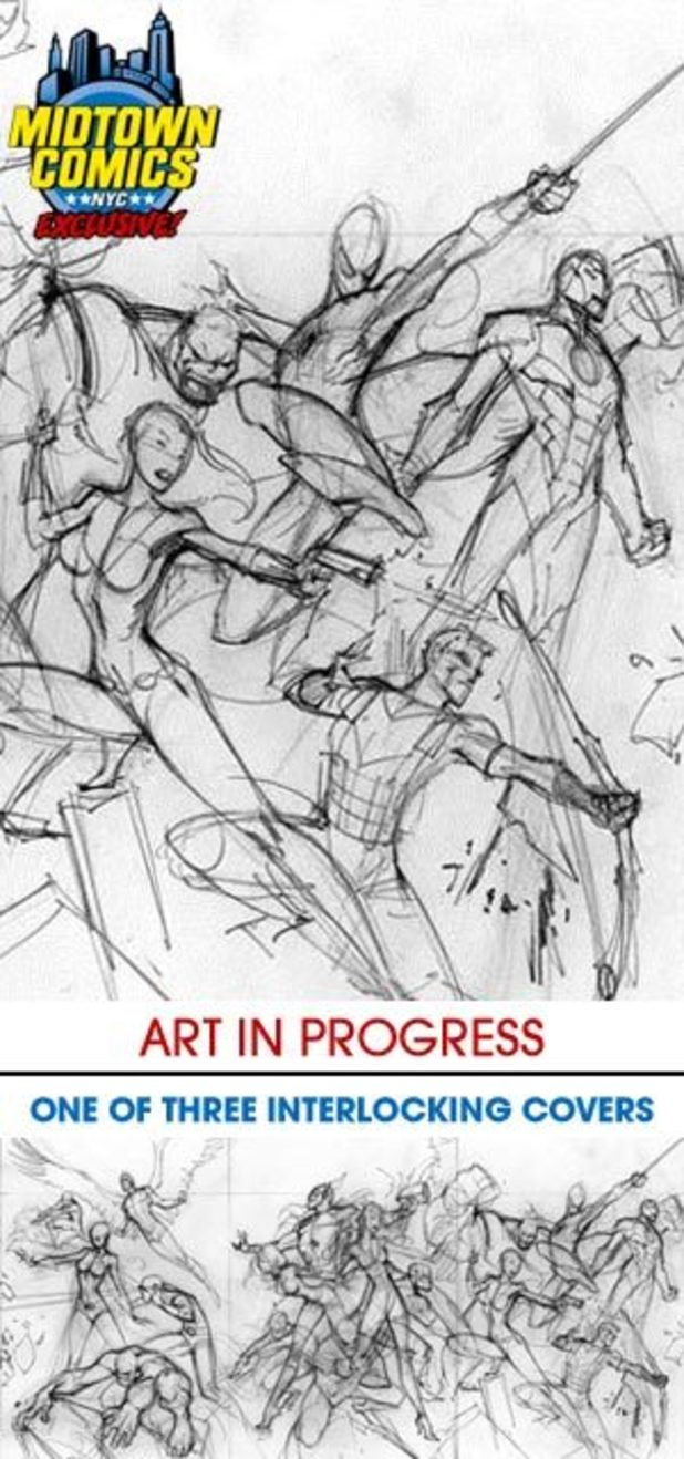 Avengers #1 sketch variant covers