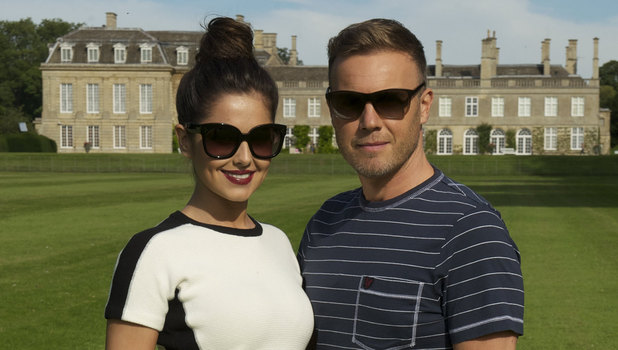 'The X Factor' TV Programme. Northants, Britain. - 08 Sep 2012 Subhead: Cheryl Cole and Gary Barlow Supplementary info: Gary Barlow was joined for his Judges Houses at Boughton House in Northants by his Guest Judge, Cheryl Cole. She'll be helping Gary to decide which contestants he will take through to The X Factor's Live Shows. Categories: Personality Byline: Ken McKay/Thames/Rex Features