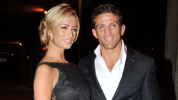 Chantelle Houghon and Alex Reid arrive at the RTE studios for The Saturday Night Show Dublin, Ireland - 08.10.11 **Not available for publication in Irish Tabloids. Available for publication in the rest of the world** Mandatory Credit: WENN.com