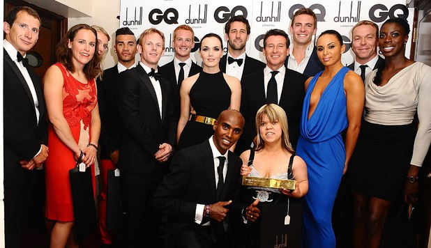Team GB Olympic and Paralympic athletes at the GQ Men of the Year awards 2012