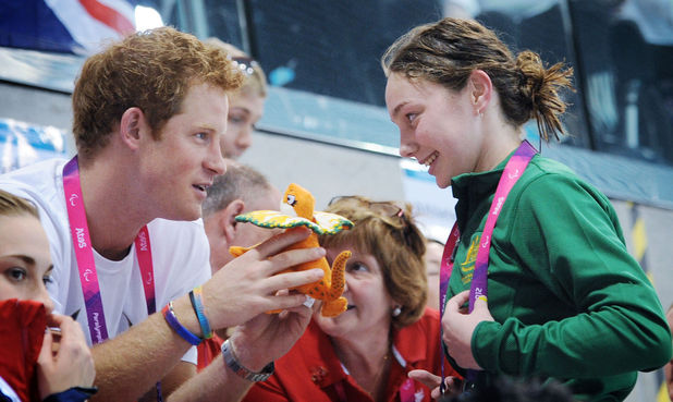 Prince Harry, paralympic swimmer