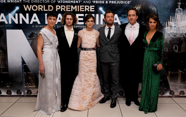 Olivia Williams, Aaron Taylor-Johnson, Keira Knightley, Jude Law, Matthew Macfadyen, Alicia Vikander, Anna Karenina
