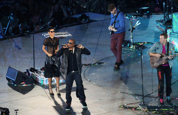 Jay-Z, Rihanna and Coldplay at the Paralympics closing ceremony
