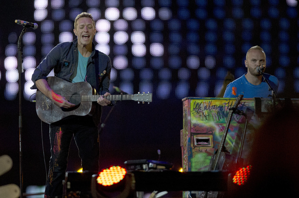 Coldplay at the Paralympics closing ceremony