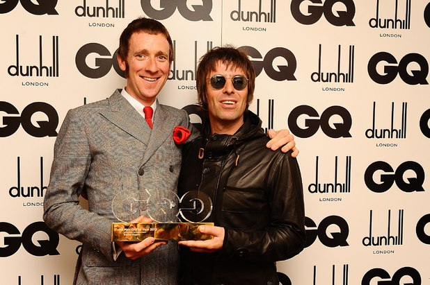 Bradley Wiggins with Liam Gallagher - GQ Men of the Year Awards 2012