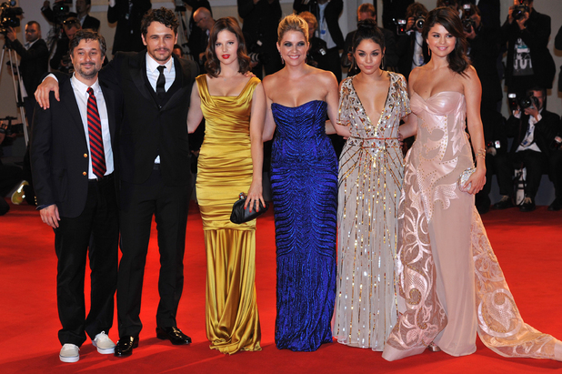 Armony Korine, actor James Franco, Rachel Korine, Ashley Benson, Vanessa Hudgens and Selena GomezThe 69th Venice Film Festival - 'Spring Breakers' - Premiere